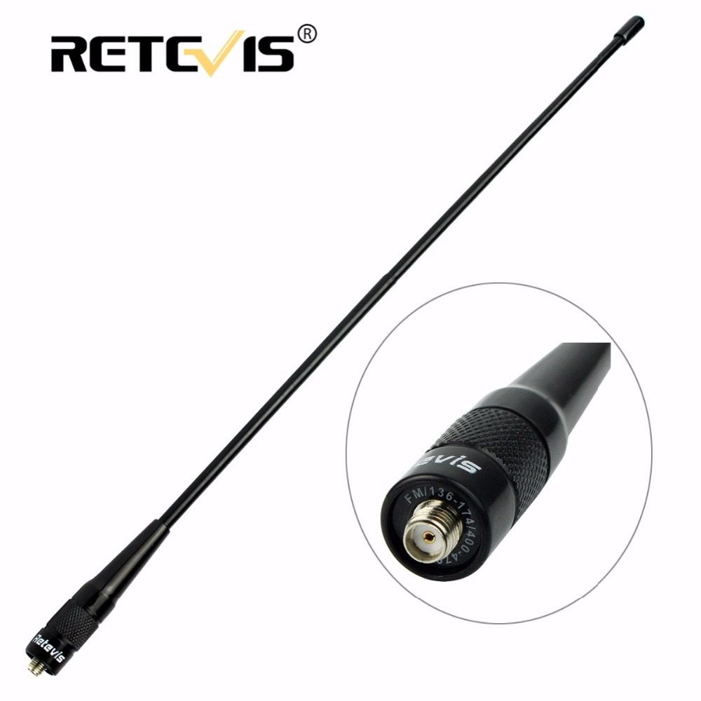 Retevis RHD-771 SMA-F Female Antenna VHF UHF Dual Band For Kenwood For Baofeng UV-5R UV-82 Bf-888S Walkie Talkie H-777 RT5 RT7