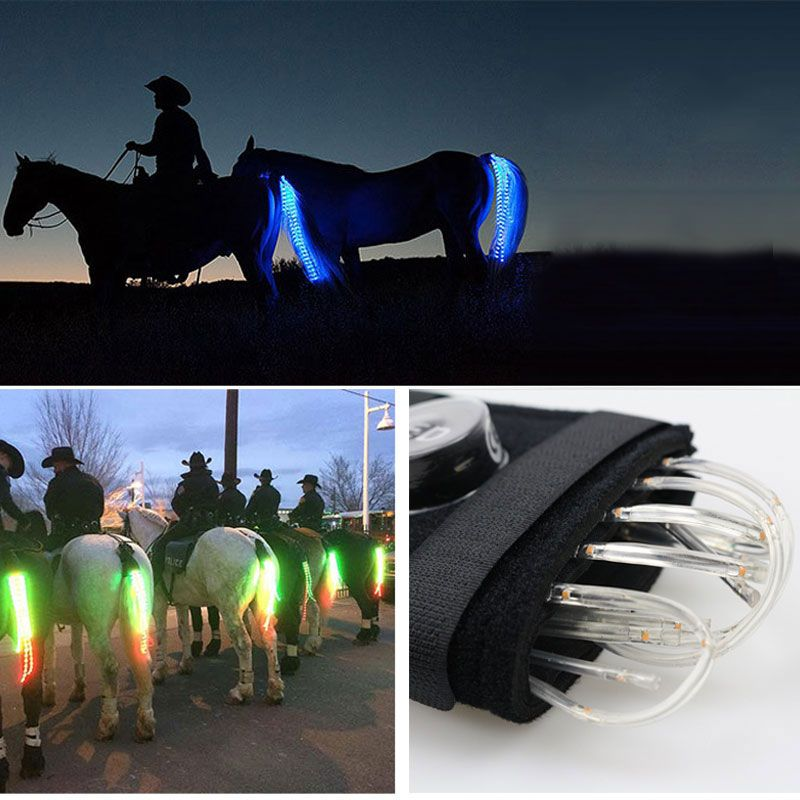 MOYLOR 100CM Horse Tail USB Light Chargeable LED Crupper Horse Harness Equestrian Paardensport Horse Riding Cheval Equitation T