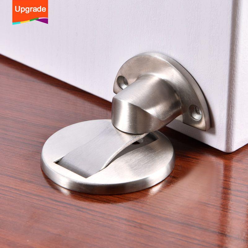 Mise à niveau aimant butée de porte en acier inoxydable arrêt de porte magnétique arrêt de porte toilette porte en verre caché arrêt de porte matériel de meubles