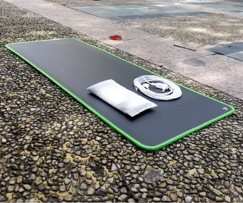 Earthing Desk Mat EMF protection for health 68*26cm with mouse wrist pad grounding cord green