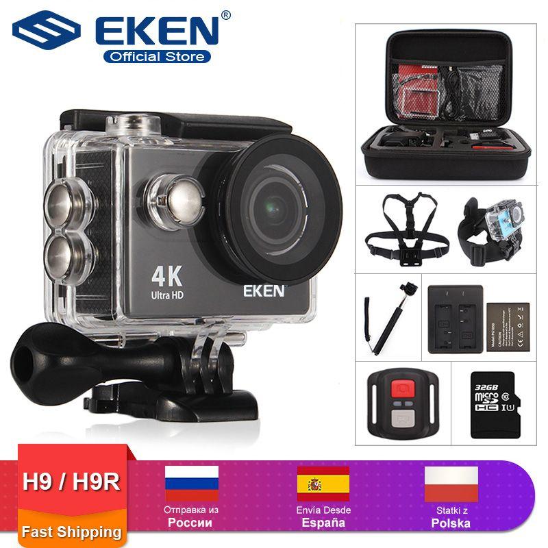 Caméra d'action EKEN H9R/H9 Ultra HD 4 K/30fps WiFi 2.0 170D casque étanche sous-marin caméras d'enregistrement vidéo Sport Cam
