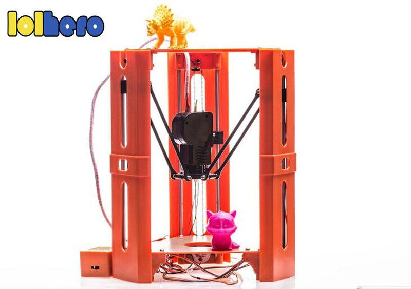 Upgraded Assembly DIY MiNi 101Hero 3D Printer Kossel Delta Kit Doll USB And SD Card DV Versions 1.75mm Filament