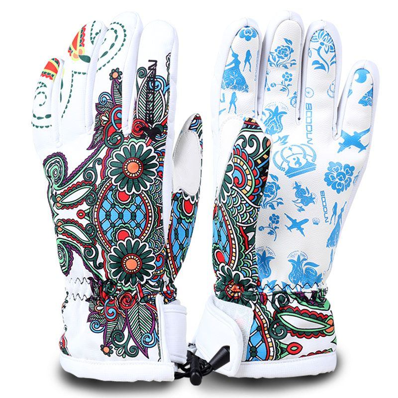 BOODUN winter ski gloves waterproof windproof plate single men and women professional men and women warm gloves