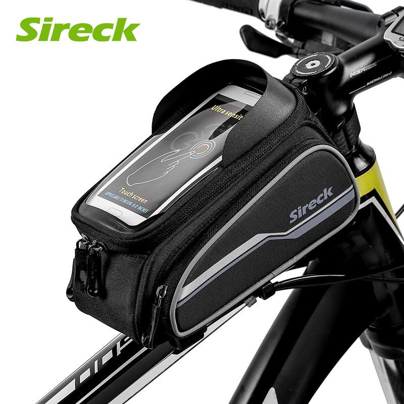 Sireck MTB Mountain Bike Bag Accessories Bicycle Saddle Bag Touchscreen Cycling Frame Bag Pannier Sacoche <font><b>Velo</b></font> For 5.8 Phone
