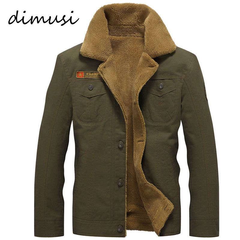 DIMUSI Winter Bomber Jacket Men Air Force Pilot MA1 Jacket Warm Male fur collar Army Jacket tactical Mens Jacket <font><b>Size</b></font> 5XL,PA061