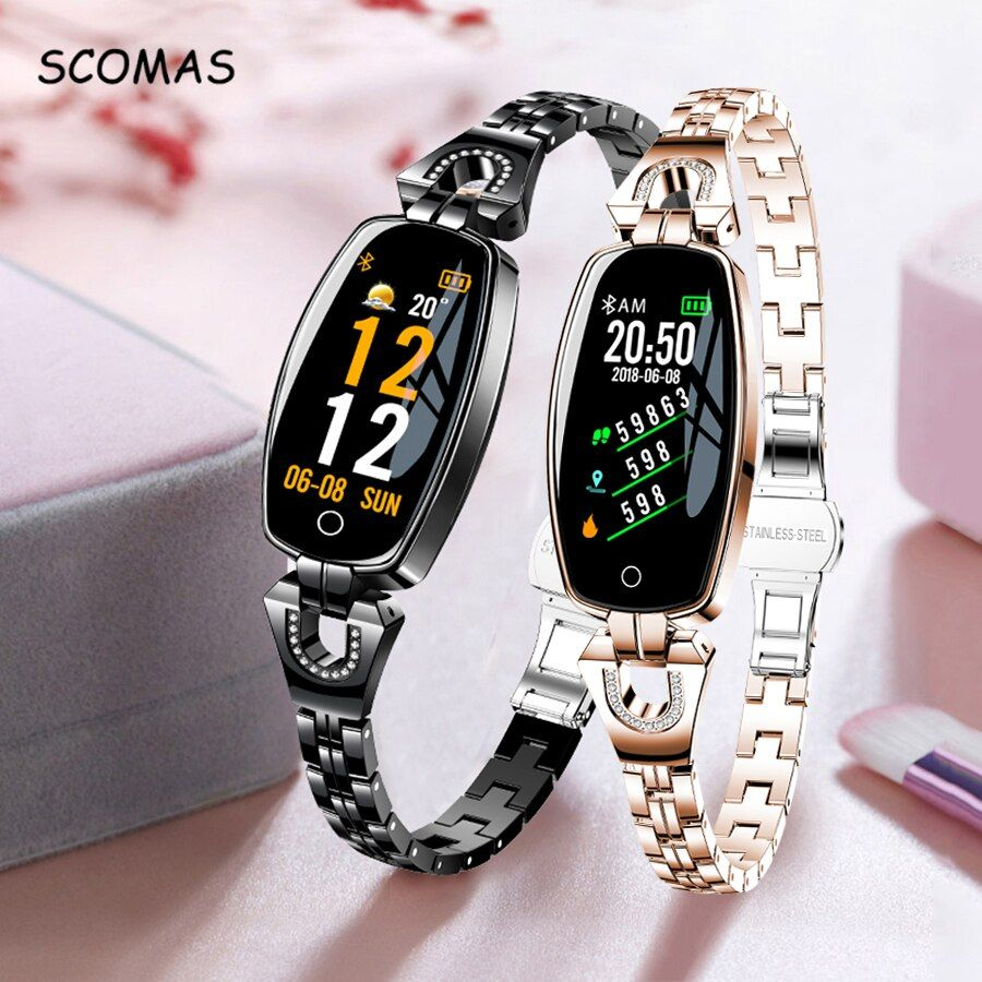 SCOMAS Fashion Women Smart Watch 0.96