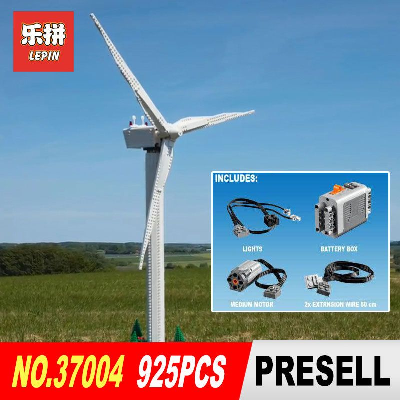 Lepin 37004 Compatible With 10268 Windmill Turbine with Motor Function Building Blocks Bricks Educational Toys DIY Birthday Gift