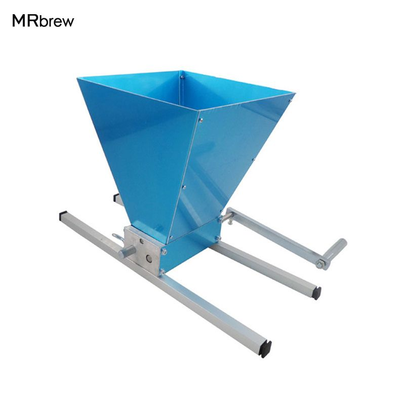 Hot Sale! Stainless steel 2 rollers Malt Mill Grain Crusher For Homebrew With Aluminum alloy Base