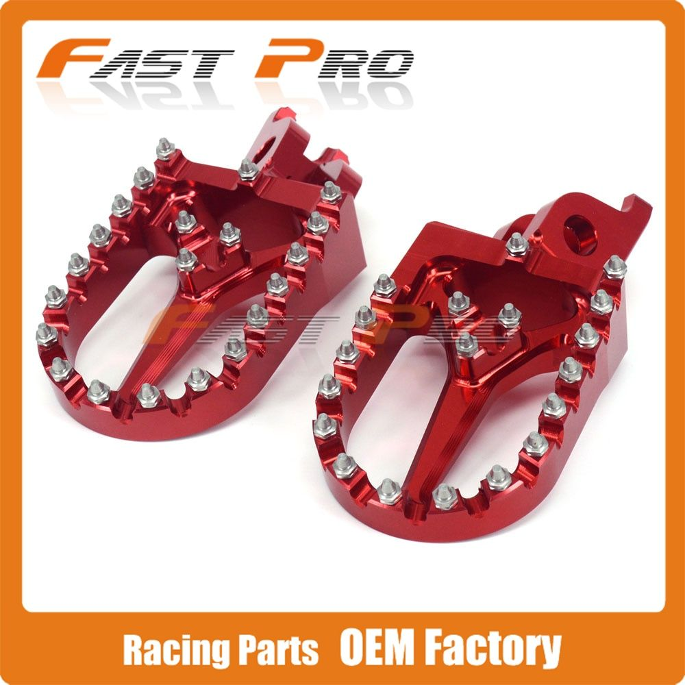 Billet MX Wide Foot Pegs Rests Pedals For CR125 CR250 CR500 CRF450X CRF250R CRF250X CRF450R Offroad Dirt Bike Motocross