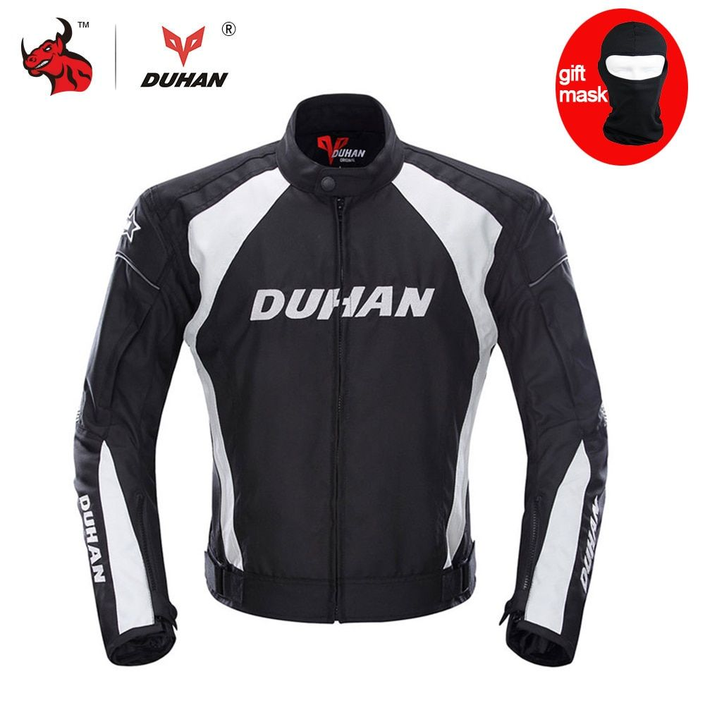 DUHAN herren Motorradjacke Moto Racing Winddicht Jacke Kleidung Schutzausrüstung Mit Fünf Protector Schutzvorrichtungen Motorradjacke