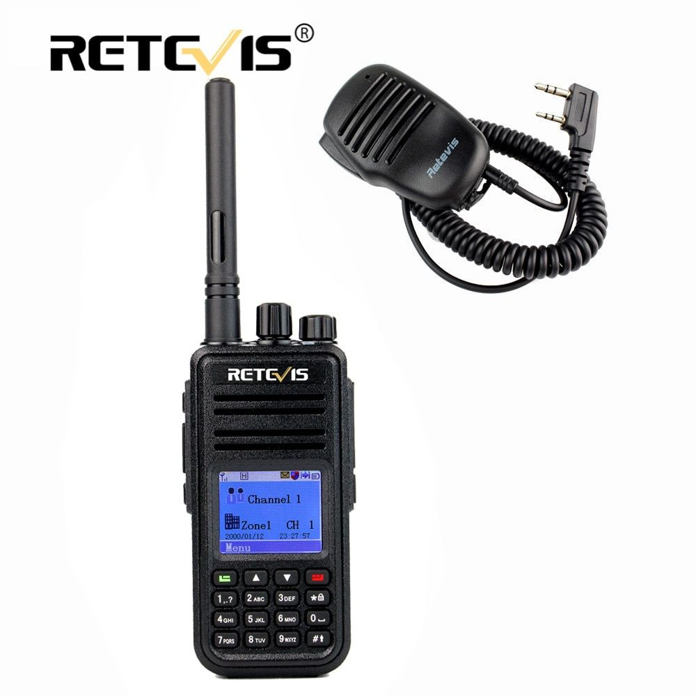 Digital DMR Walkie Talkie Retevis RT3+Mini Speaker MIC UHF (VHF) 5W Encryption Two Way Hf Radio Station Professional Walky Talky