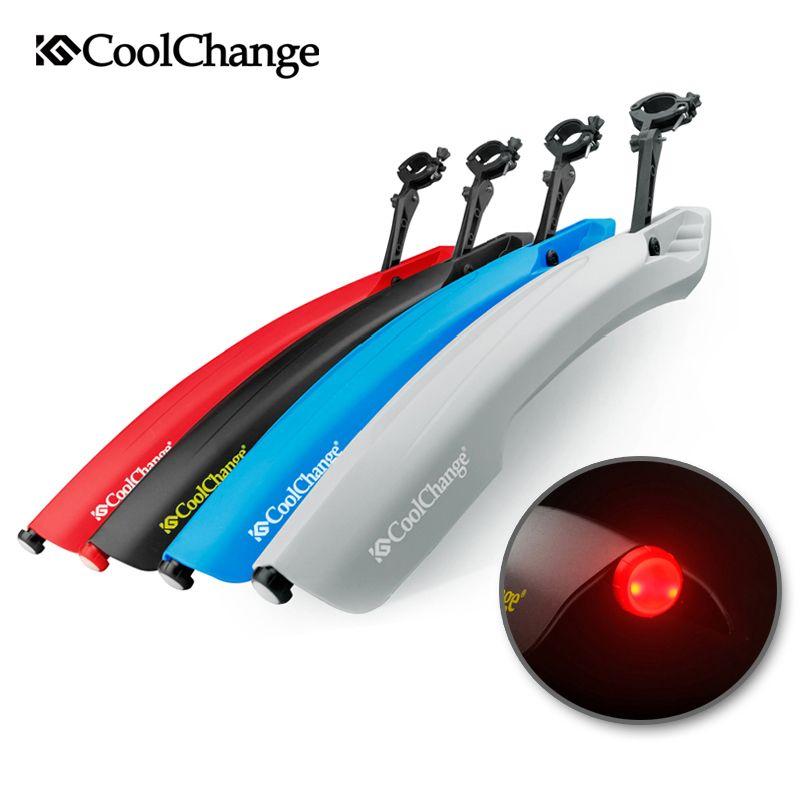 CoolChange Flectional Mtb Front Schutzblech-set 26 Fahrrad Kotflügel Schnellverschluss Mit Led-Licht Radfahren Fender