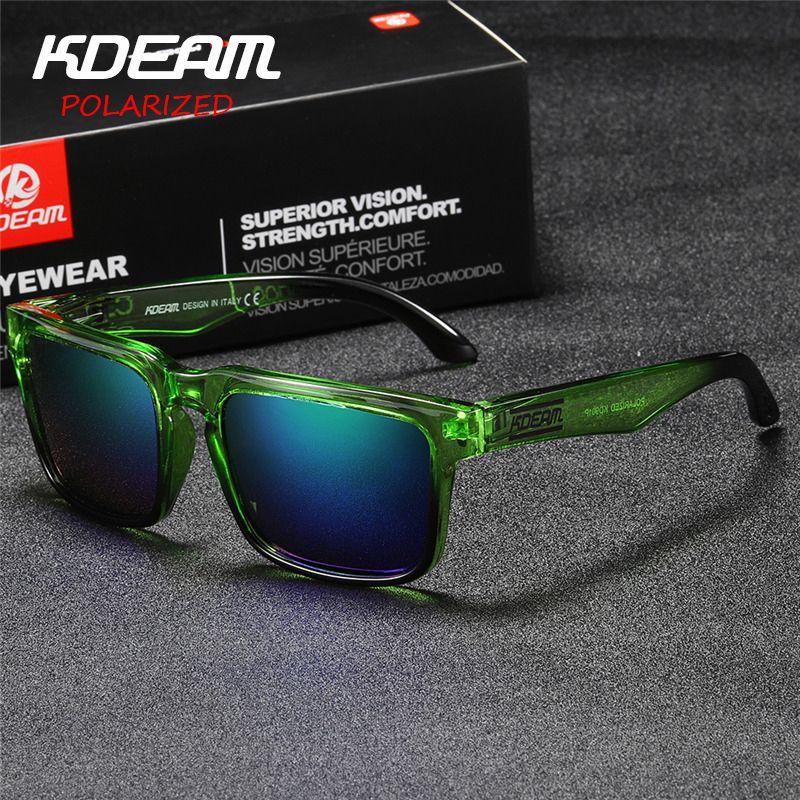 Kdeam lunettes de soleil d'été polarisées hommes revêtement réfléchissant carré lunettes de soleil femmes marque Designer UV400 avec étui d'origine KD901P