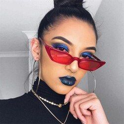 New Women Small Cat Eye Sunglasses 2020 Vintage Men Fashion Brand Designer Red Shades Square Sun Glasses UV400 gafas de sol
