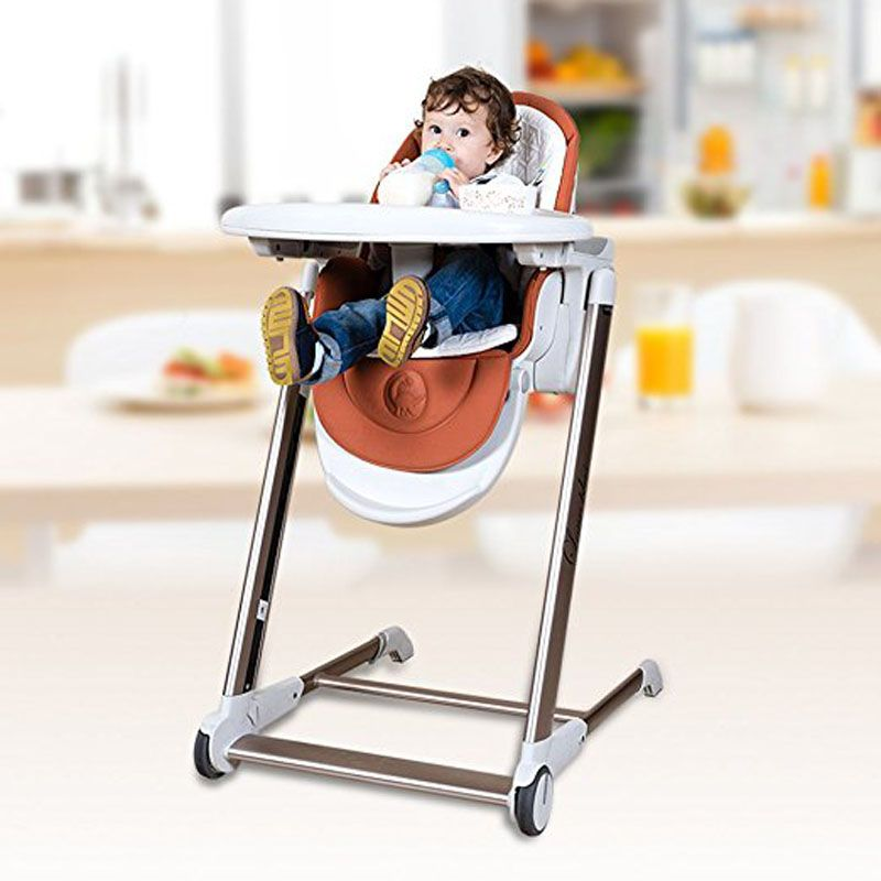 5 in 1 Baby Dining Highchair, aluminum alloy frame baby feed chair, adjust height can sit can lie Baby Booster Seat