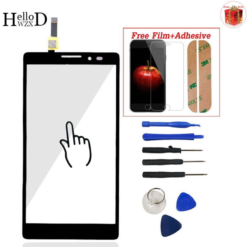 5,5 zoll Für Lenovo K910 Touchscreen Digitizer Panel Frontglas Objektiv Sensor Flex Werkzeuge Kleber + Displayschutzfolie geschenk