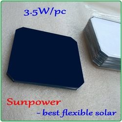 Flexible Sunpower solar cells Max 3.5W/pc DIY monocrystalline flexible solar cells panel can be bent