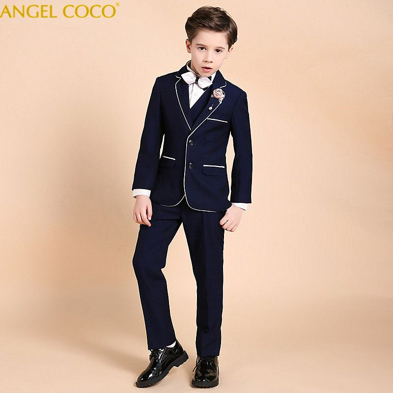 Nimble Suit For Boy Single Breasted Boys Suits For Weddings Costume Enfant Garcon Mariage Boys Blazer Jogging Garcon Blue Suits