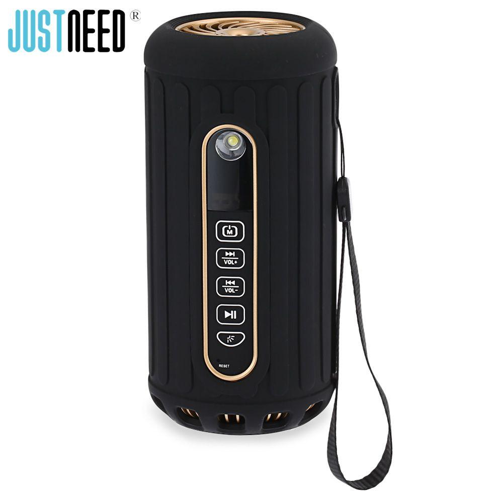Original JUSTNEED P1 Tragbare Lautsprecher Wasserdichte Bluetooth Lautsprecher Zwei Horn Sound Stereo Mit Led-taschenlampe Outdoor Lautsprecher