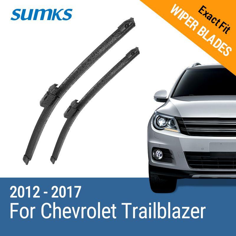 SUMKS Wiper Blades for Chevrolet Trailblazer 22 & 18 Fit Top Lock Arms 2012 2013 2014 2015 2016 2017