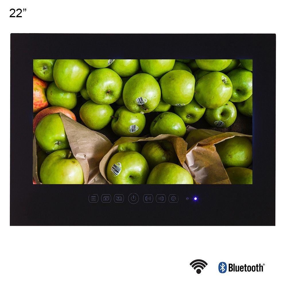 Souria 22 zoll Android 9.0 Smart Glas für Bad Digitale Wasserdichte Schwarz Finish Hotel LED TV