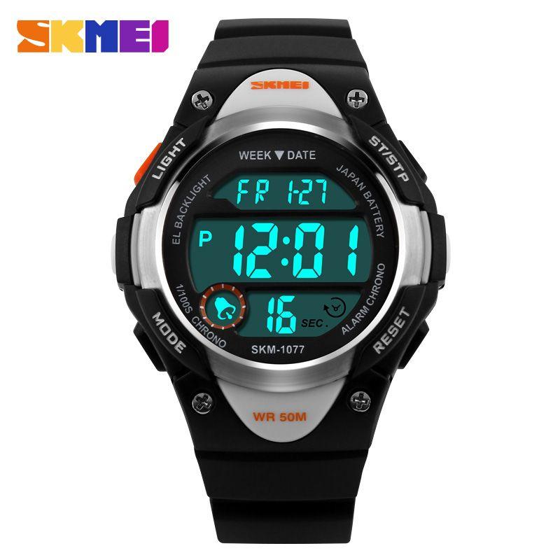 2016 New Children Watch Outdoor Sports Kids Boy Girls LED Digital Alarm Stopwatch Waterproof Wristwatch Children's Dress Watches
