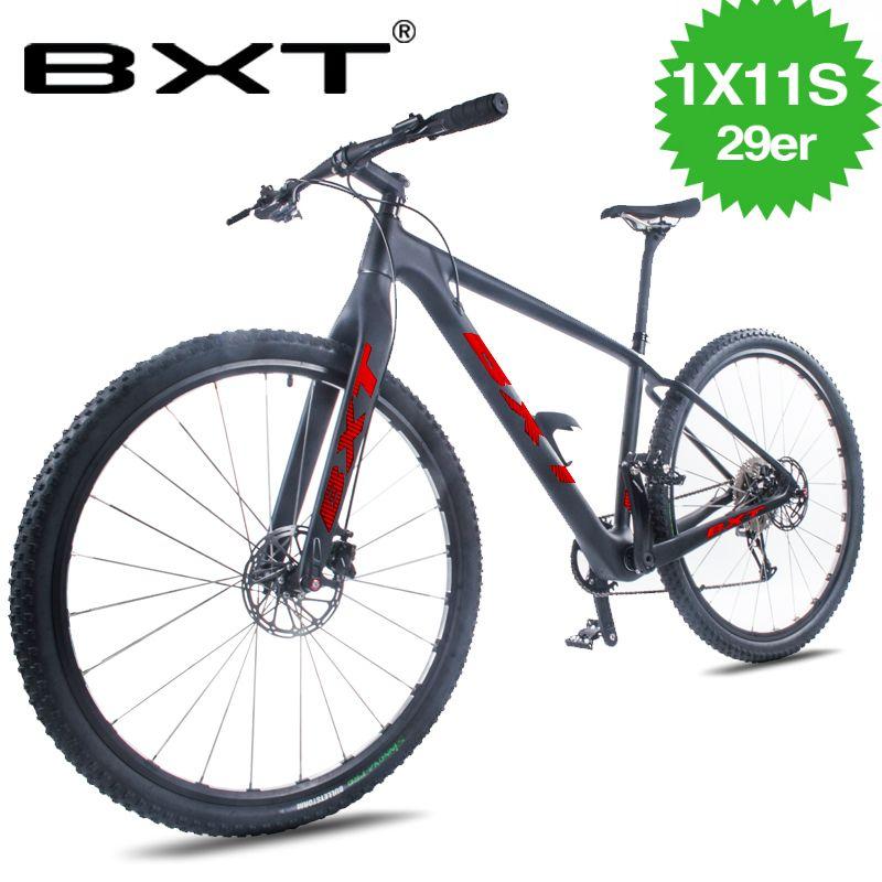 Günstige 29er MTB komplette fahrrad 1*11 Geschwindigkeit Mountainbike 29*2,1 Reifen Bikes Fahrrad Kostenloser Lieferung Männer der und frauen Mountainbike