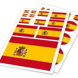 Nave de la gota 2 unids/lote A4 España bandera etiqueta engomada del coche de la calcomanía accesorios Skateboard pegatinas pegatina barco