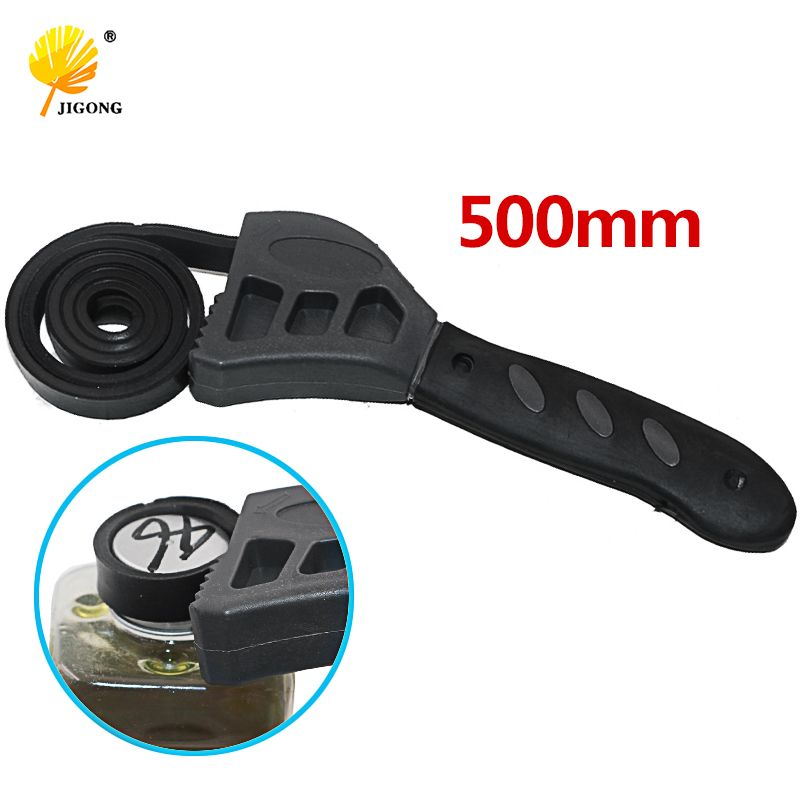 500mm Rubber Strap Wrench Universal Black Wrench Adjustable Spanner For Any Shape Opener Tool Car Repair Tools 1Pc