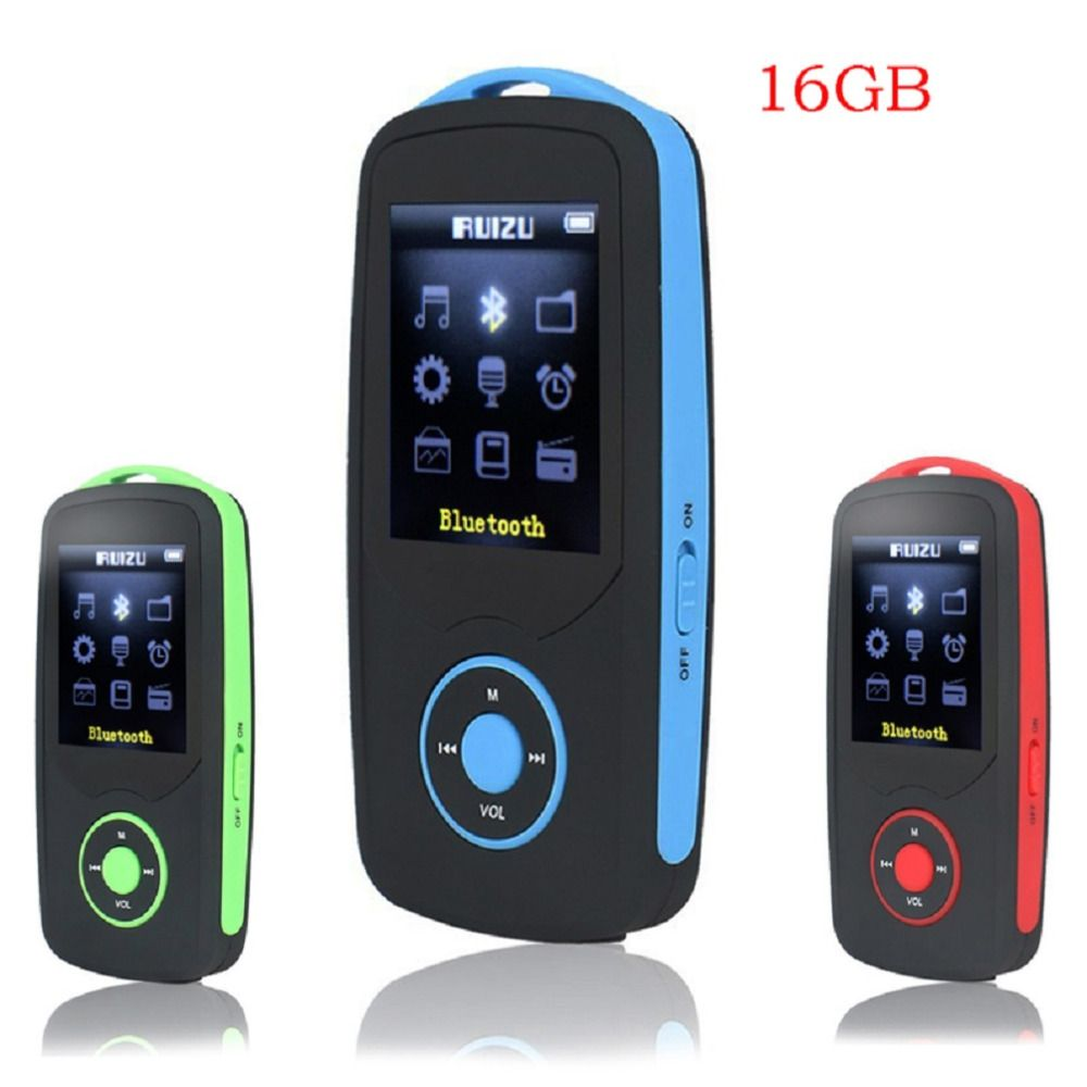 2018 Original RUIZU X06 mp3 Player Bluetooth 16GB High Quality Lossless Sport MP3 Music Player 1.8'' Screen Recorder FM radio