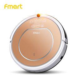 Fmart E-R302G (S) Robot Aspiradora Aspirador húmedo y seco maquina barredora Aparatos de limpieza del robot aspiradora, casa de la alfombra y el piso, anti-colisión, anti-caída, auto charge, mando a distancia