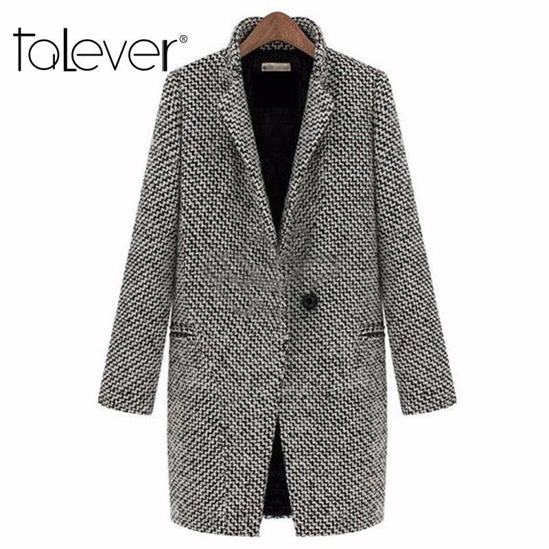 2017 Printemps Automne Femmes de Laine Manteau Nouvelle Mode Long Manteau De Laine Unique Poitrine Mince Type Femelle Automne Hiver Laine manteau