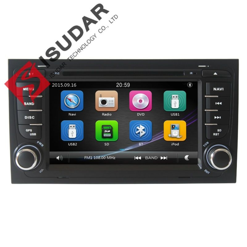 Wholesale! 2 Din 7 Inch Car DVD Player For Audi/A4 2002-2008 Canbus Radio GPS Navigation Free Map FM 3G USB Host Ipod
