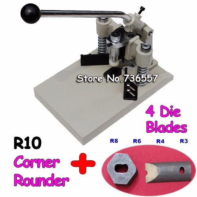 Radius R3, R4, R6, R8, R10 5Blades All Metal ID Business Criedit PVC Paper Card Corner Rounder Cutter