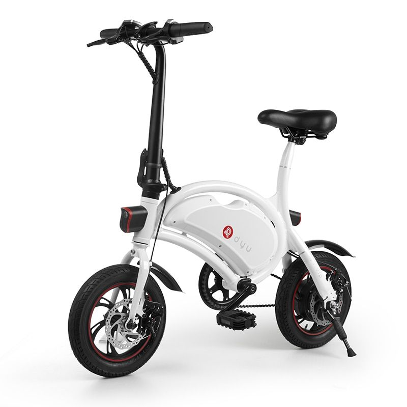 Dyu D2 Mini Folding Electric Scooter,Can pedal, assist, lithium battery electric car adults 2018 newest electric bicycle