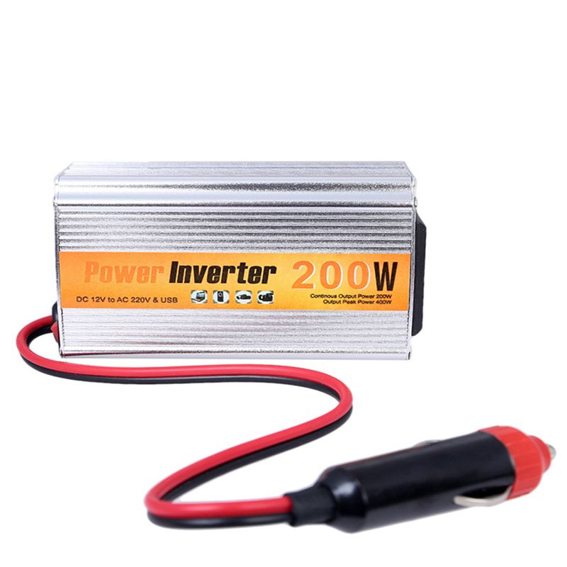 200w Auto Inverter 12v 220v With Usb Car Power Converter 12V DC To AC 220V Adapter Car Adaptor 200W Car Styling Free Shipping