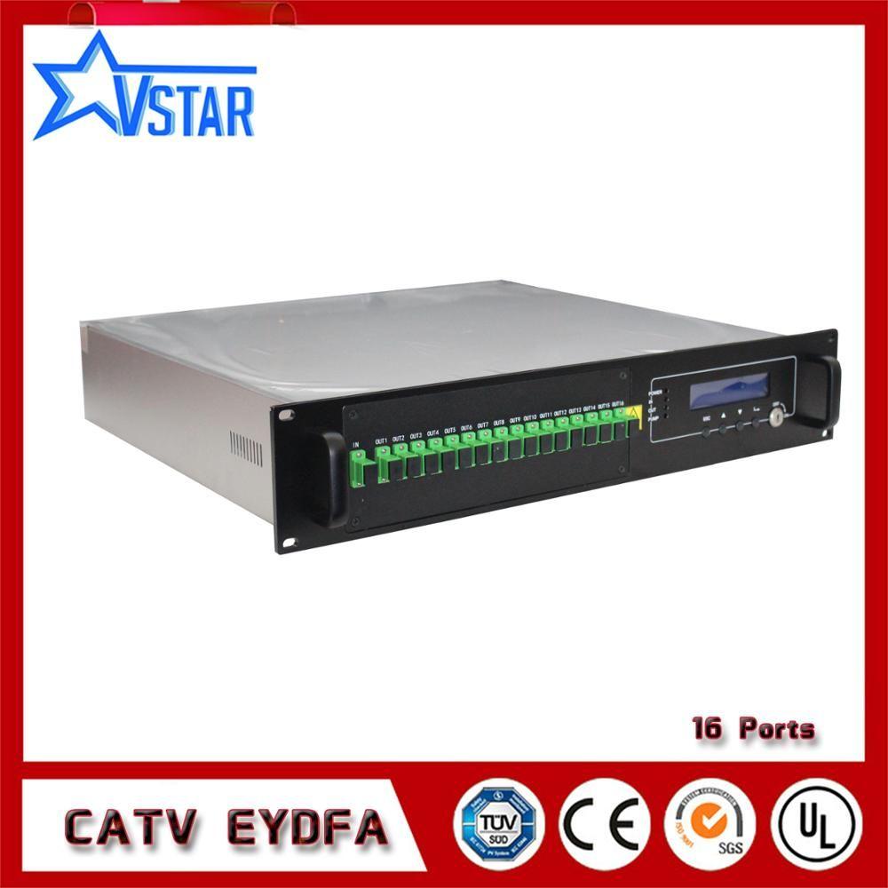Multi Ports High Power Output CATV Fiber Optic Signal Amplifier 1550 nm EDFA 16*22dBm