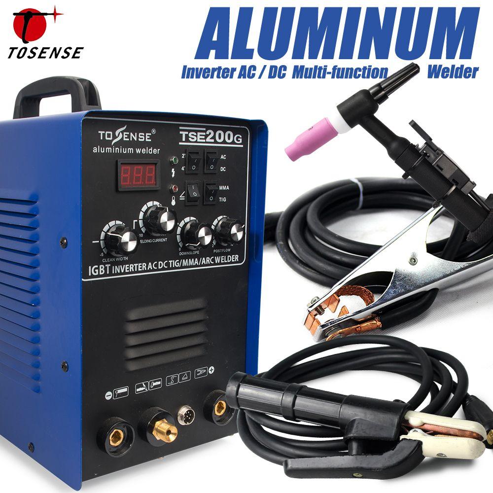 IGBT TIG/MMA Schweißer TSE200G AC/DC Quadratische sinus-wechselrichter 200A 4 Schweißverfahren Maschine Für Aluminium, Edelstahl, etc