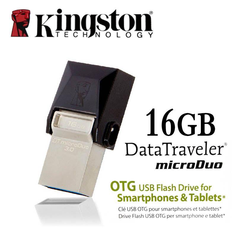 Kingston USB 3.0 stylo lecteur Smartphone Micro mémoire 16gb 32gb 64gb Portable clé de stockage microDuo OTG clé usb clé USB