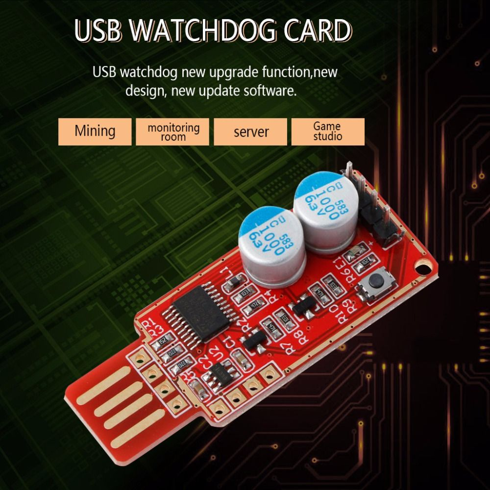 2018 Hot Sale USB Watchdog Card Computer/Unattended Automatic Restart Blue Screen Crash/Mining/Game/Server/LTC BTC Miner C26