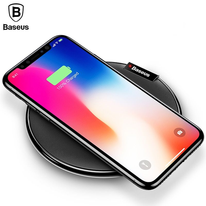 Baseus Qi Wireless Charger For iPhone X 8 Plus Samsung Note 8 S8 S7 S6 Edge Fast wireless charger Desktop Wireless Charging Pad