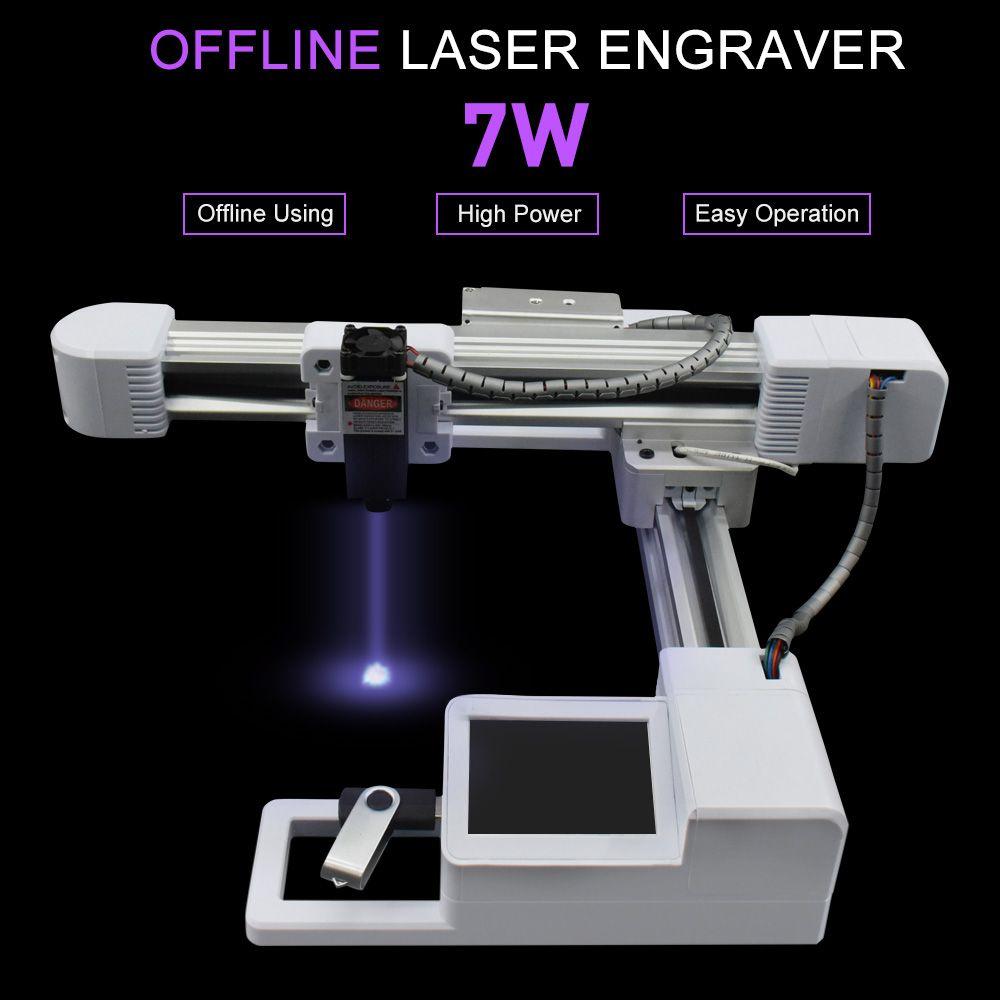 7000 MW Holz Router Fräsen Maschine 155 MM * 175 MM Bereich CNC Gravur Maschine 7 W 3 W Laser gravur Maschine Carving Holz Werkzeuge