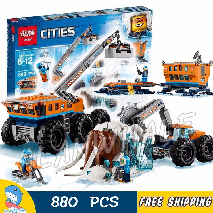 804pcs City Arctic Mobile Exploration Base Mobile lab Frozen Mammoth 10997 Model Building Blocks Toy Bricks Compatible With lego