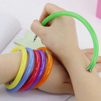 10 PCS Flexible Stylo À Bille Mignon Doux En Plastique Bracelet Bracelet Stylos À Bille Bureau de L'école de Cadeaux