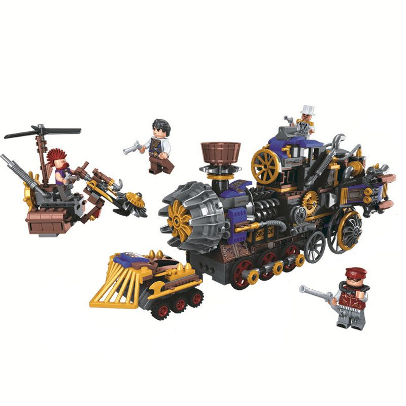 Age Of Steam Creator Military Train Building Blocks Sets Bricks Classic Model Kids Toy Gift Marvel Fantasy Compatible Legoings