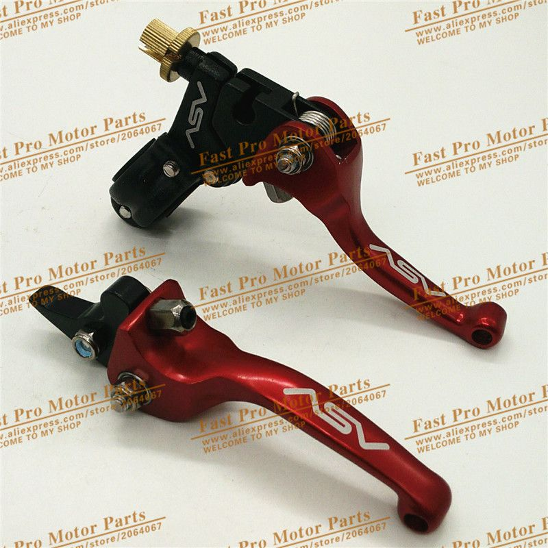 Aluminum alloy ASV Clutch and Brake Folding Lever Fit Most Of Motorcycle Dirt Pit Bikes parts WR CRF KLX YZF RMZ