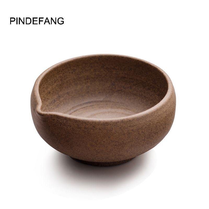 Bol Matcha fait main super fin avec bec mignon poterie brute thé Matcha Chawan brut porcelaine Jindezhen japonais thé Matcha