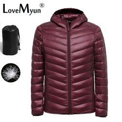 2017 Nuevo Ultralight hombres 90% pato blanco abajo chaqueta invierno pato abajo abrigo impermeable Down Parkas abrigo