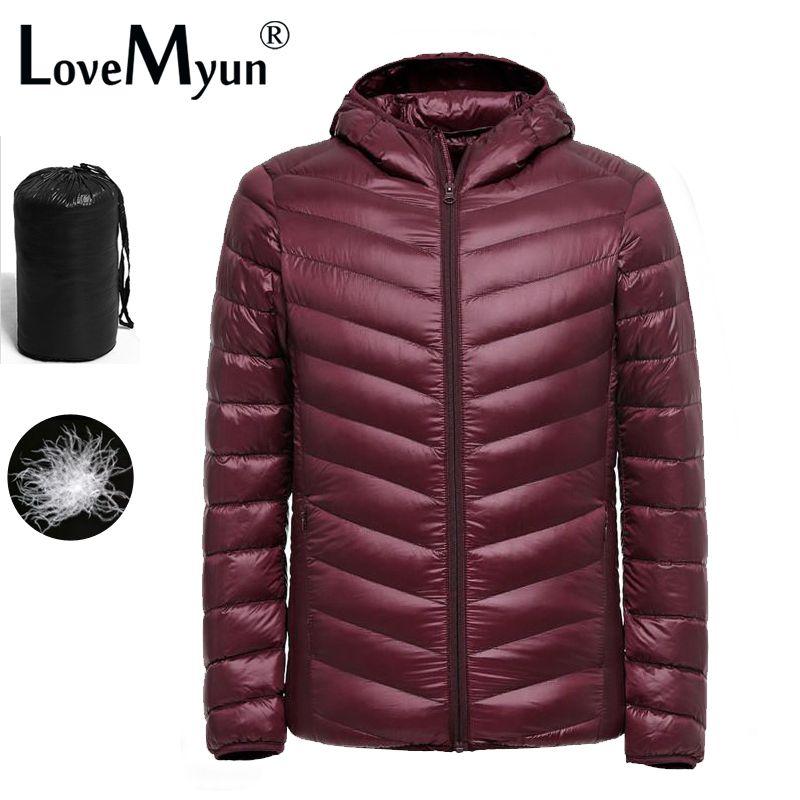 2019 New Ultralight Men 90% White Duck Down Jacket Winter Duck Down Coat Waterproof Down Parkas Outerwear puffer jacket mens