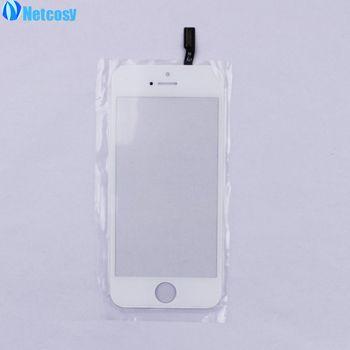 Netcosy New White Écran Tactile Pour iphone5s Écran Tactile Digitizer Remplacement Tactile Extra-Atmosphérique Panneau Avant Lentille En Verre Pour iPhone 5S